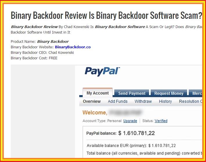 binary backdoor scam