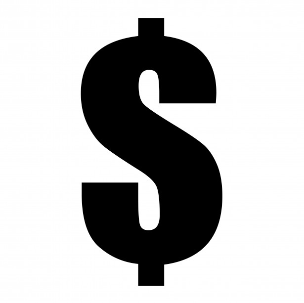 A large dollar sign