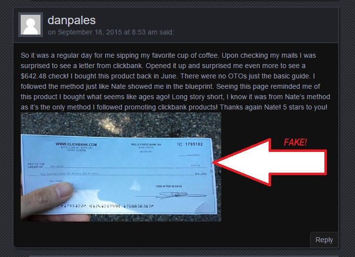 Picture of a check taken from another site!