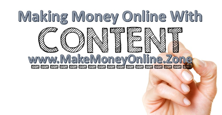 Start making money online with content marketing.