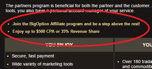 The Big Option Affiliate Program.