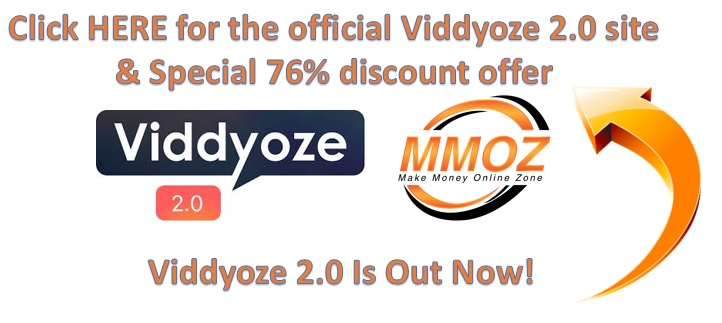 Viddyoze 2.0 Special discount bonus offer.