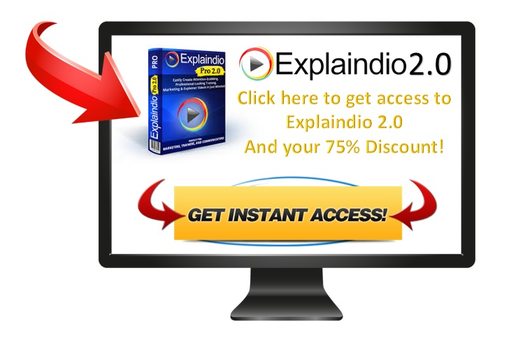 Explaindio 2.0 Discount offer. Download Explaindio with a 75% discount!