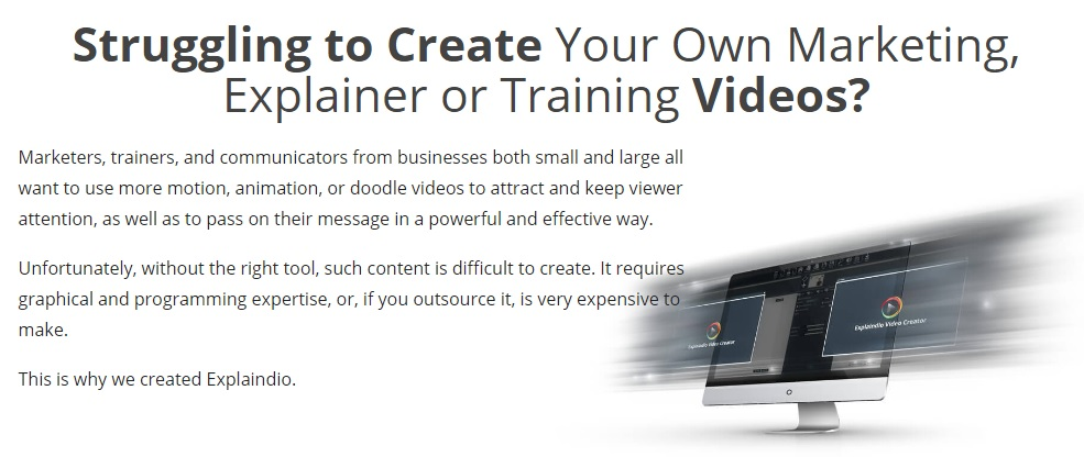 Struggling to create online trainer videos? Explaindio 2.0 makes creating videos as easy as possible!