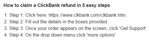 How to get a refund from Clickbank.