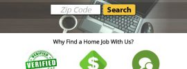 My Home Job Search dot Com. A view of the website home page. myhomejobsearch.com