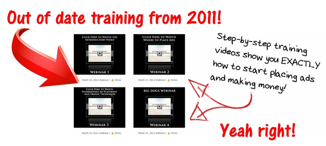 Out of date training from the 37 clicks website. Also the same training as with the Cash From Home scam!