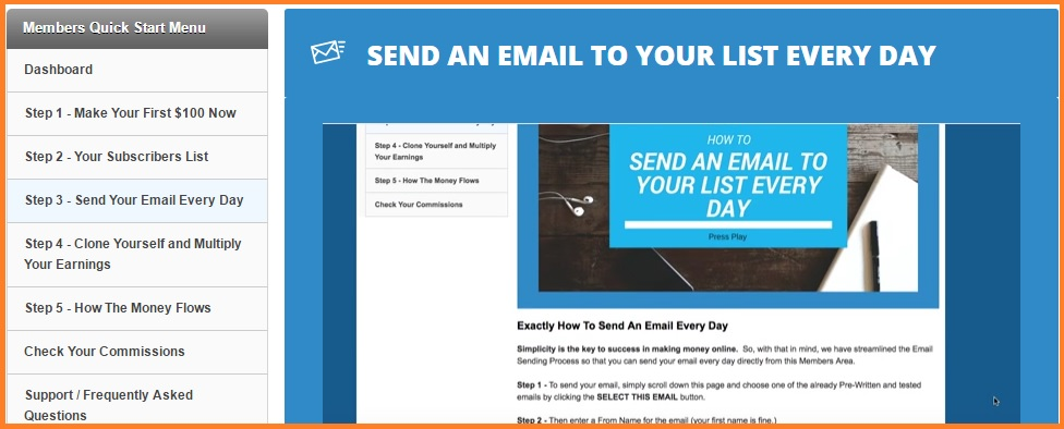 Guaranteed Email System members area.