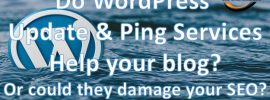 Do WordPress ping and update services help your blog? Or can they cause hard or damage to your SEO and search engine results?