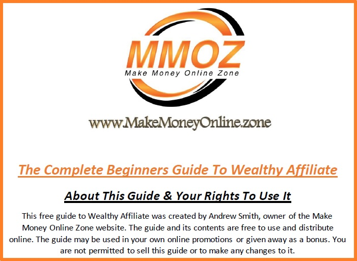 eBook screenshot from the complete Wealthy Affiliate guide download PDF.