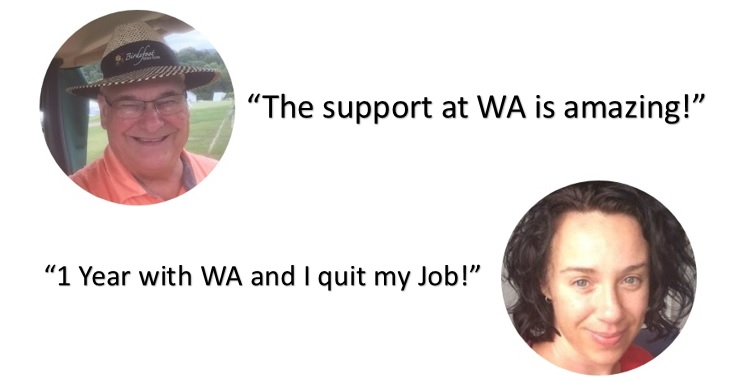 2 more Wealthy Affiliate testimonials. The WA support was amazing and I quit my job after 1 year with Wealthy Affiliate.