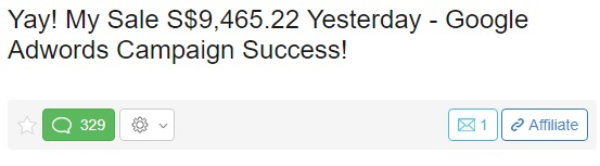 Wealthy Affiliate testimonial 2. Almost $10,000 in sales.