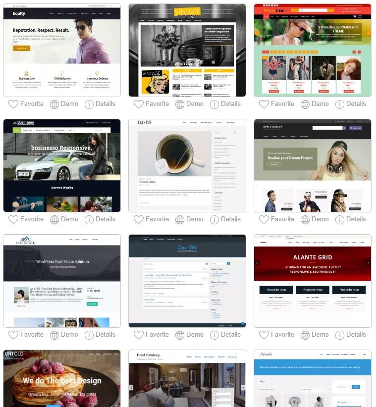 WordPress website examples.
