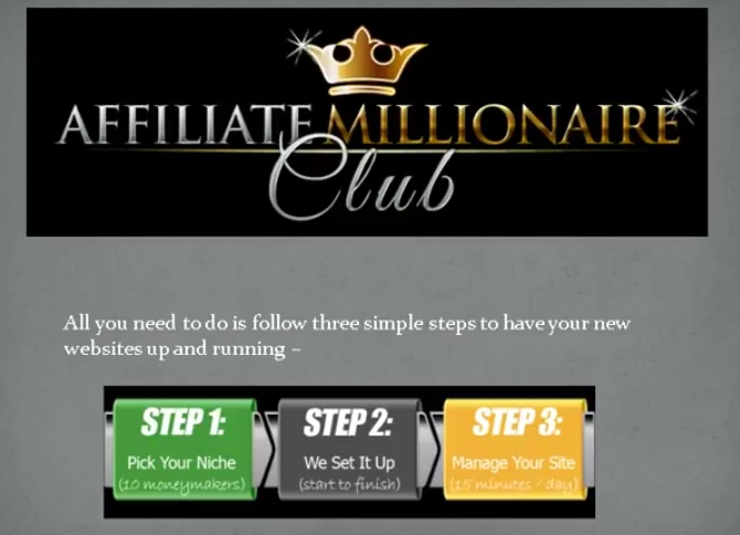 Affiliate Millionaire Club members area.