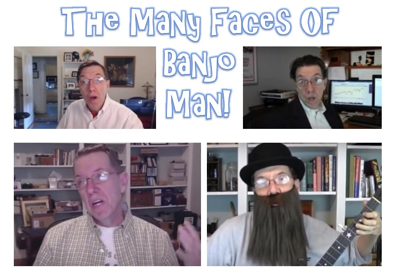 The many faces of Banjo Man and his fake reviews and testimonials.