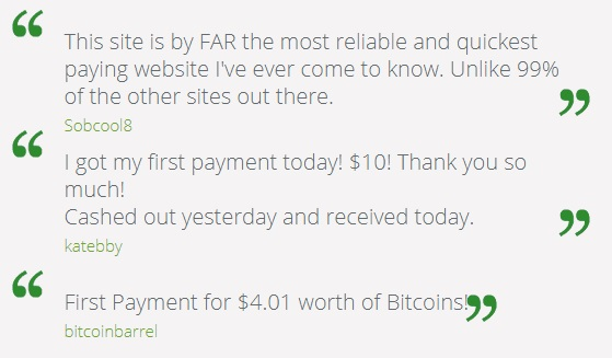 Get-Paid.com testimonials from the official site.