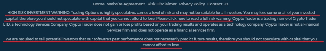 Crypto Trader rip off warning.