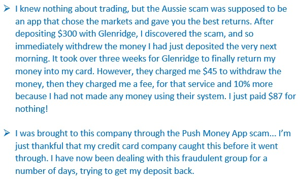Proof that Glenridge Capital is a scam.