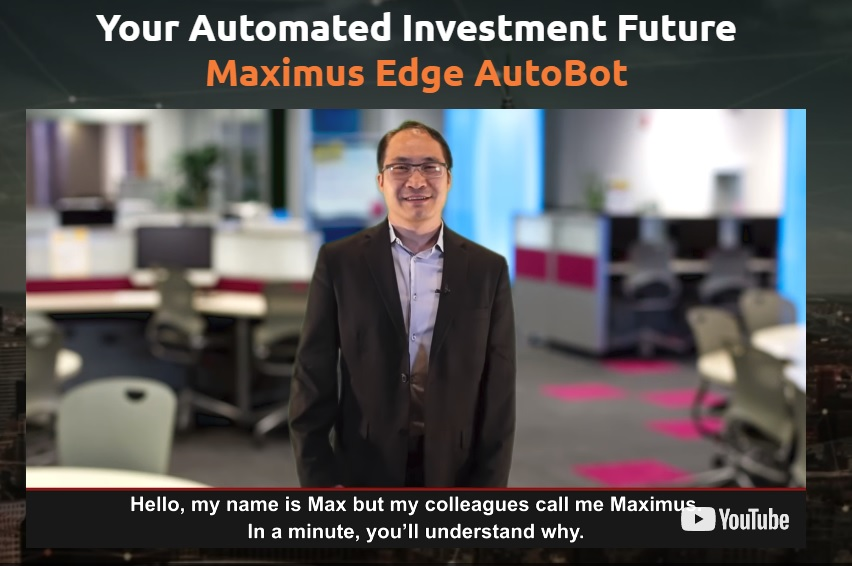 Maximus Edge Autobot trading system.  A screenshot from the official site.