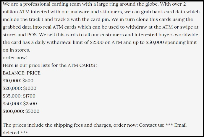 The ATM Card Scam.