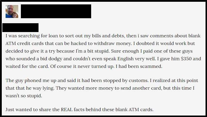 The experience of one of our readers with this online ATM scam.