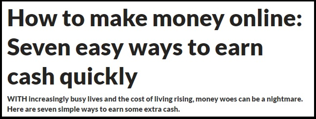 Seven easy ways to earn cash quickly.
