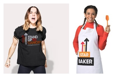 Stand Up 2 Cancer T Shirt And Apron.