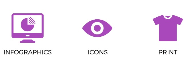 Create icons and prints.