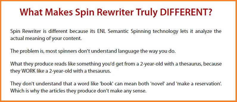 Spin Rewriter 9.0 and what makes this software different.