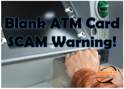 Mr Beckham blank ATM card scam Warning!