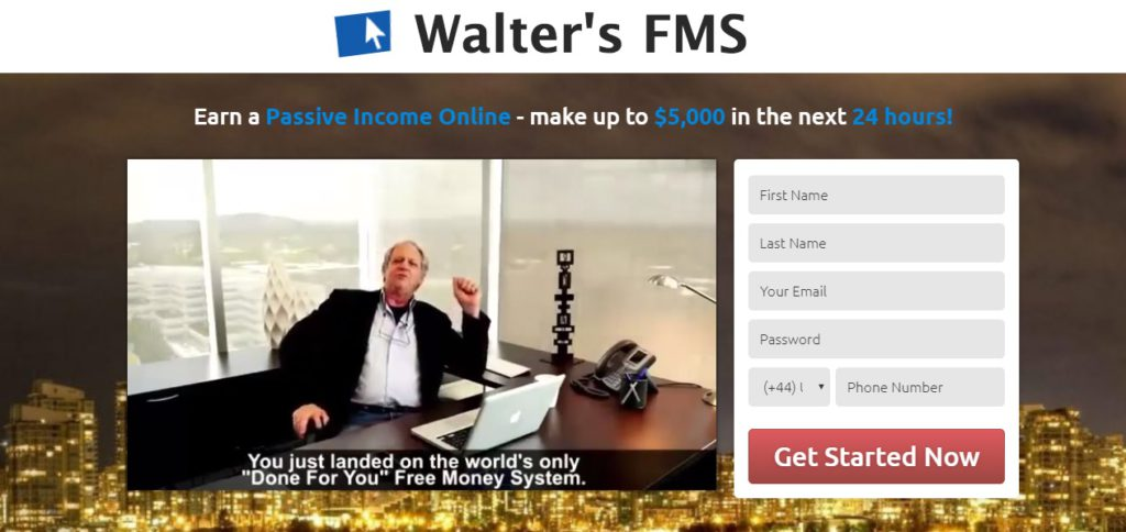 Walter's FMS. Otherwise known as Walter Green Free Money System scam.