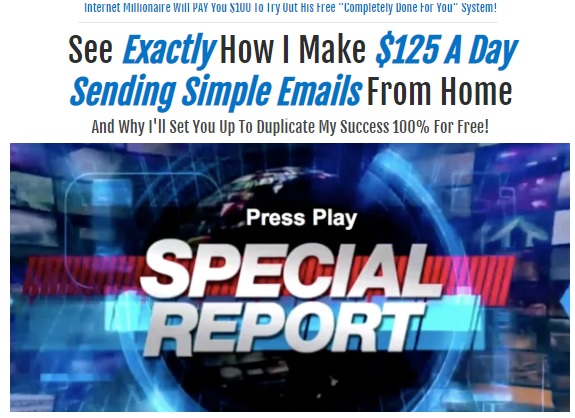 Fake news report showing how people make money from home.