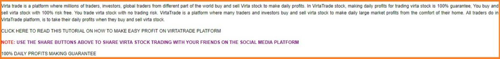 The instructions on this website are very poor. This text says buy stocks, sells stocks and make profit.