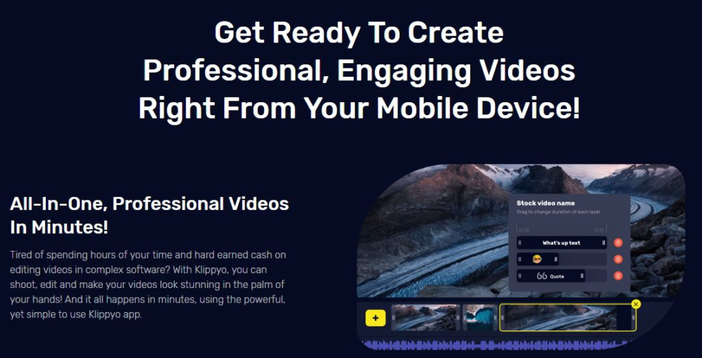 Create professional looking video.