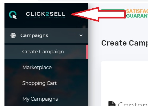 Screenshot from Click2Sell redirected from Adflippers.com