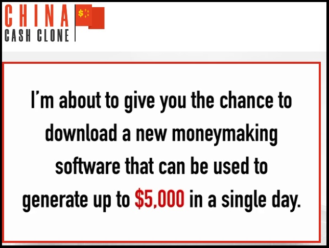 China Cash Clone review screenshot.