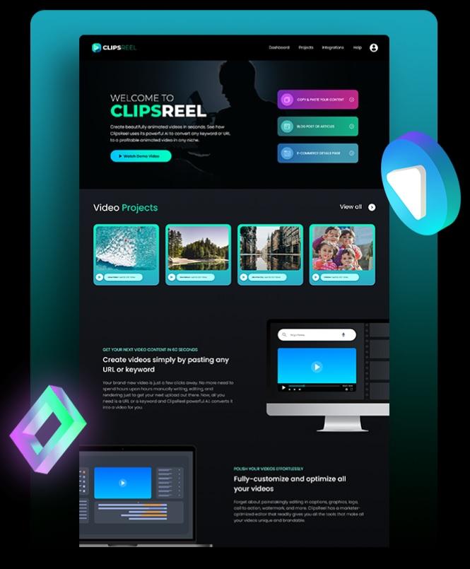 ClipsReel Software screenshot.