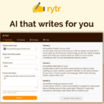 Rytr - A.I. that writes for you