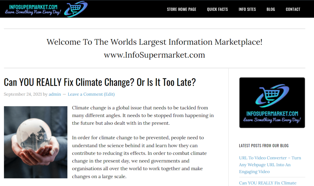 Live example of an article produced by Rytr.